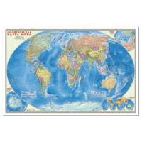 Карта Мир. Политическая карта 1:25 млн. 124х80 см. ламинир.
