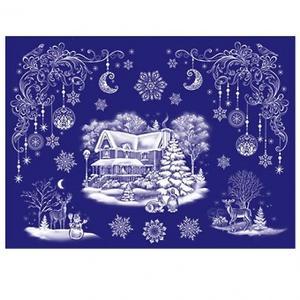 Набор 8-30-5006А Новогодний! декорат. наклейки Морозная фантазия