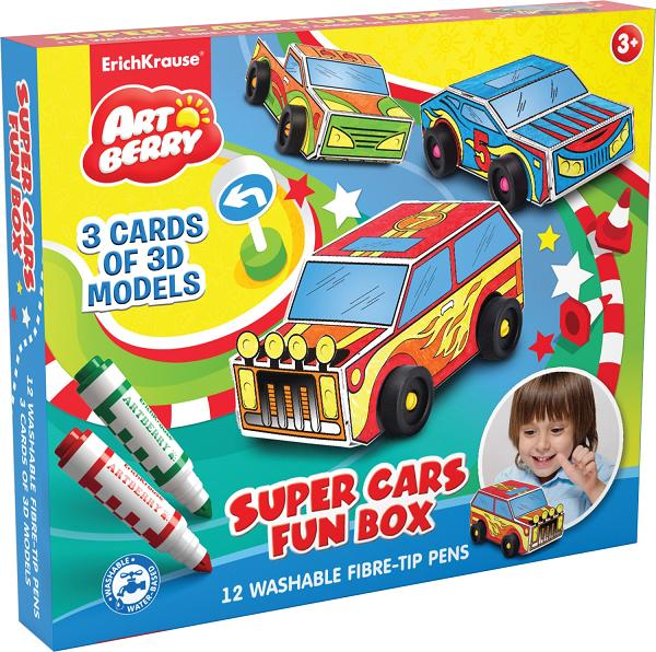 Конструктор для раскрашивания Super Cars Fun box Супер машина