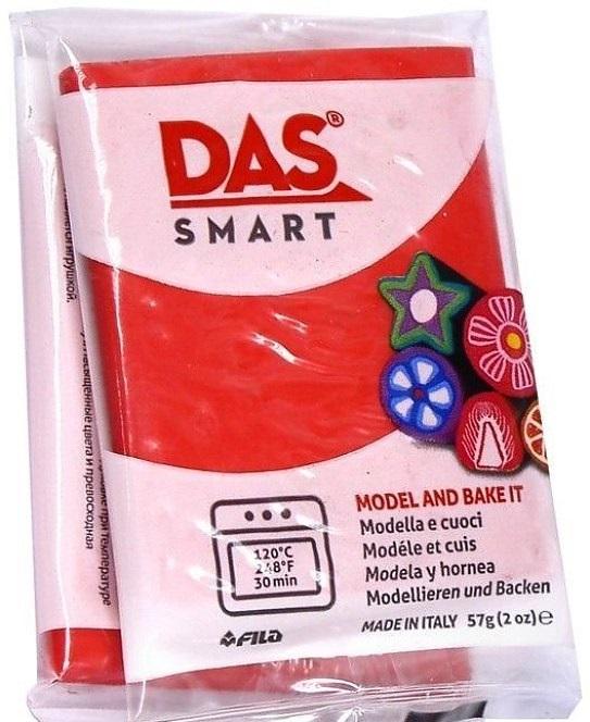 Паста для моделирования 57гр DAS SMART алый красный