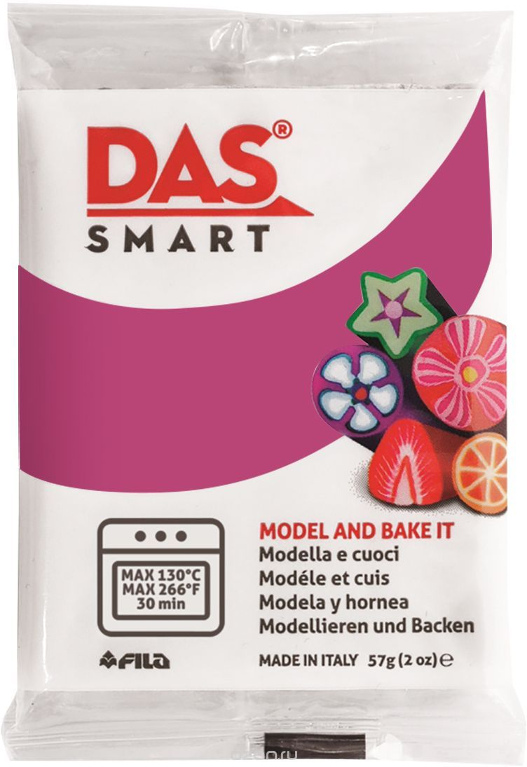 Паста для моделирования 57гр DAS SMART розовая герань