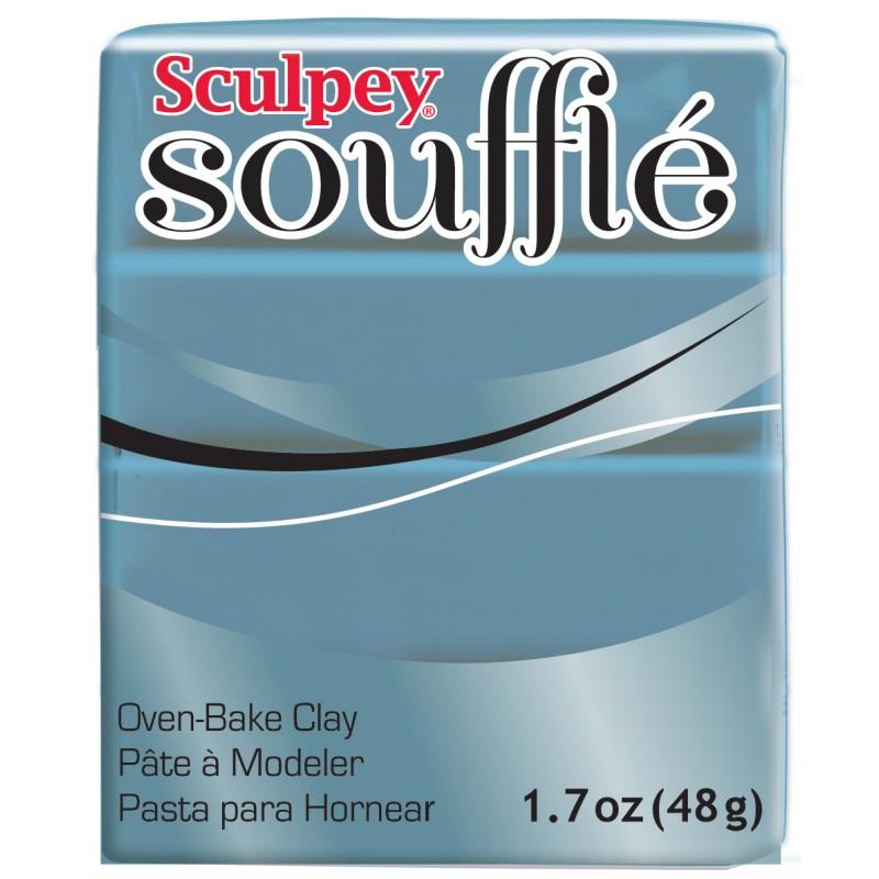 Пластик запекаемый Souffle серо-голубой 48г