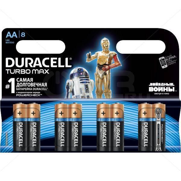 Батарейка DURACELL Turbo Max  Star Wars LR6 АА (1ШТУКА) пальчиковая