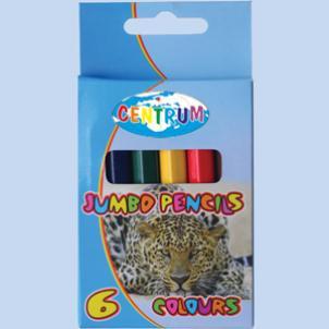 Карандаши цветные 6 цв Centrum Jumbo толст.