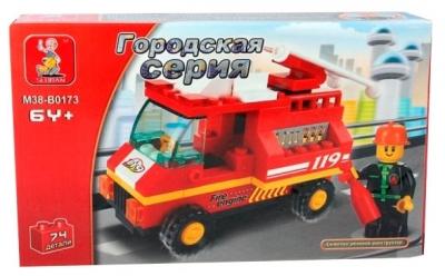 Конструктор Город: Пожарная машина 74 дет. пластмас.