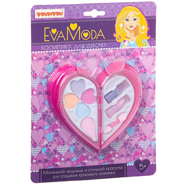 Набор детской декоративной косметики Bondibon Eva Moda Косметичка-Сердц