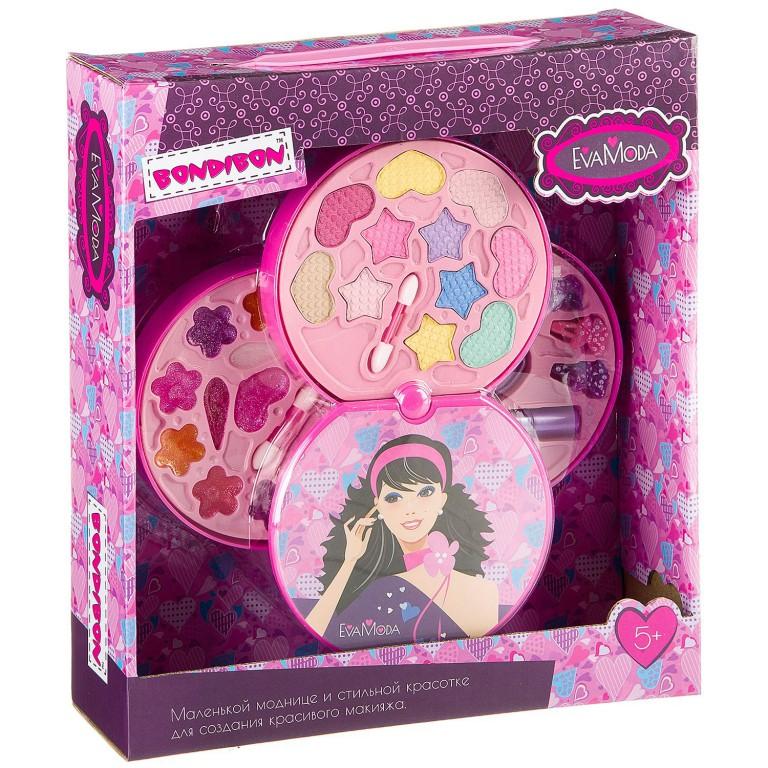 Набор детской декоративной косметики Bondibon Eva Moda BOX Диск 3 ур