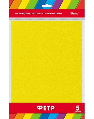Фетр А4 5л Желтый