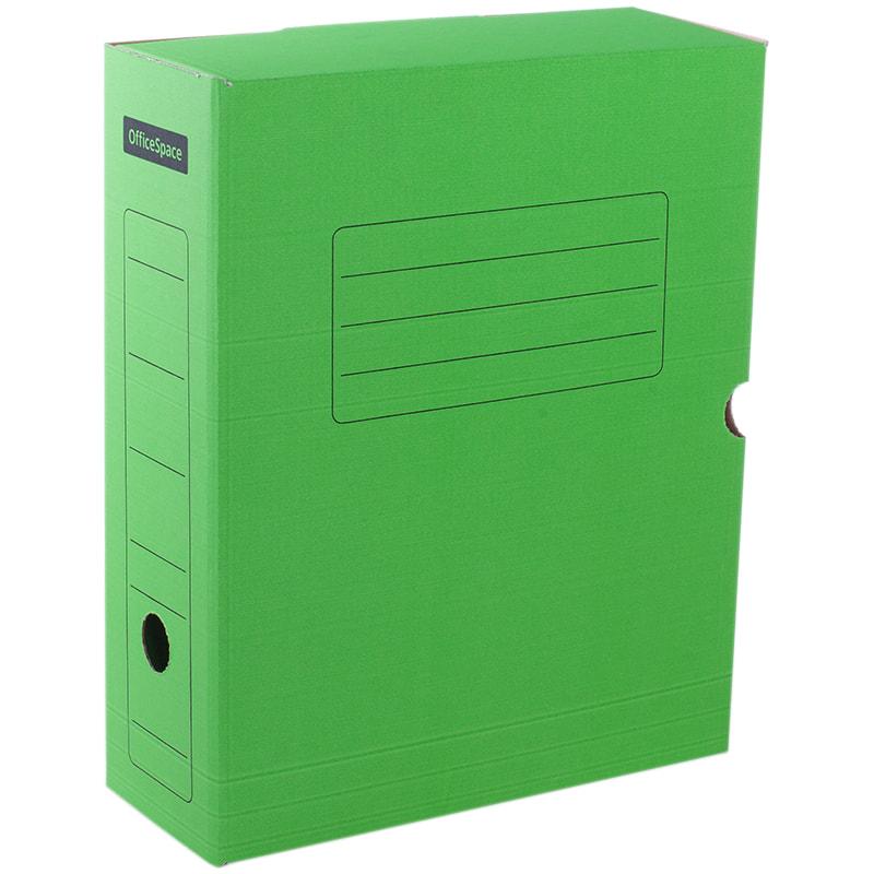 Короб архивный 100мм зеленый с клапаном