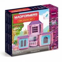 АКЦИЯ-20 Игр Конструктор магнитный Магформерс Mini House Set 42