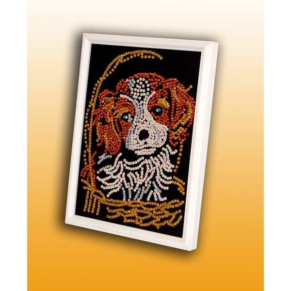 Творч Мозаика из пайеток 27*36 Милый щенок