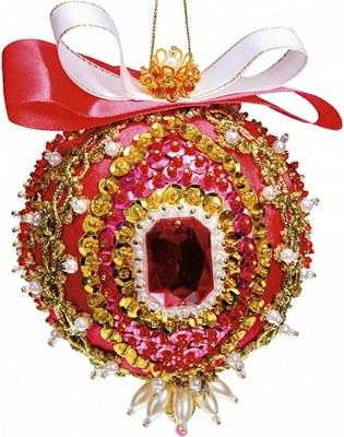 Творч Набор для творчества Новогодний шар из пайеток Кардинал Ришелье