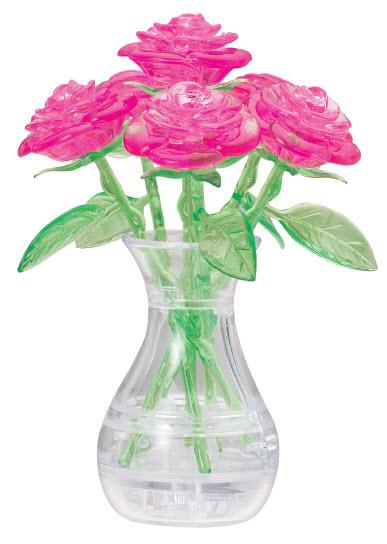 Головоломка Букет в вазе Розовый 3D 41 дет.