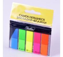 Блок липкий Закладки-разделители 5цв 25л 45*12мм Neon