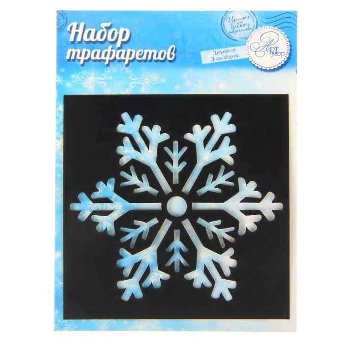 Трафарет НГ 7*7 Снежинка