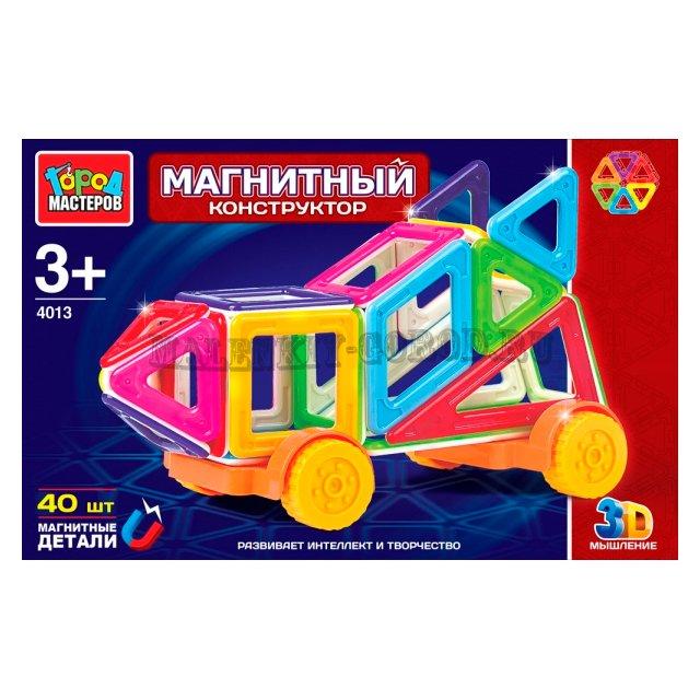 Конструктор магнитный Город мастеров 40 дет. в ассортим.