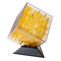 Игра АКЦИЯ-20 Игр Головоломка Лабиринтус 10см Куб желтый,прозрачный