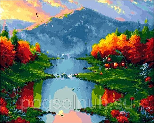 Картина по номерам 40*50 Осень в горах