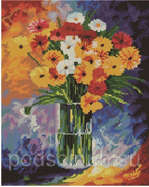 Алмазная мозаика 40*50 Букет цветов