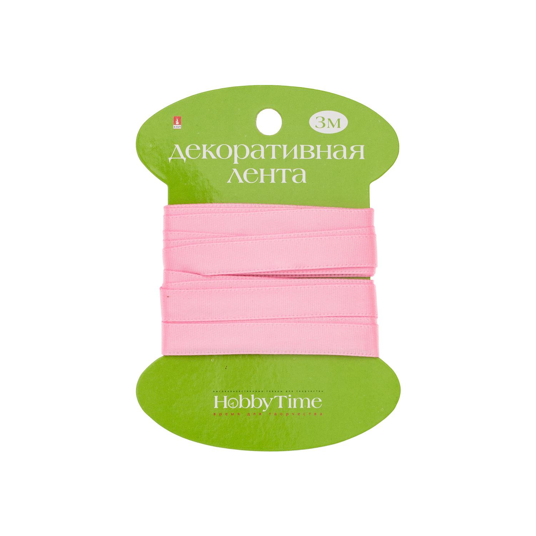 Творч Лента атлас 9мм*3м розовая