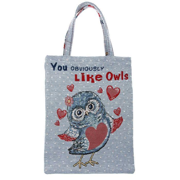 Сумка хозяйственная Like Owls с гобеленом 33*41см