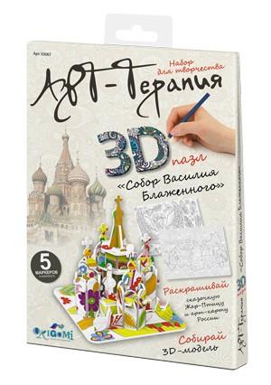 Творч Пазл для раскрашивания 3D Собор Василия Блаженного + 5 маркеров