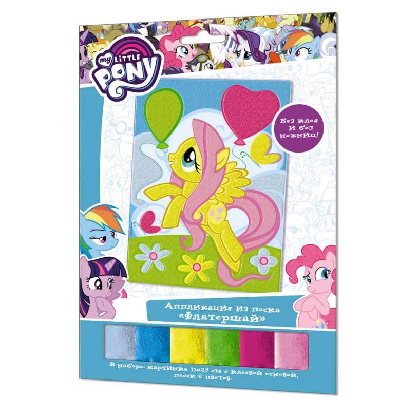 Аппликация из песка My Little Pony Флатершай 25*17,5см