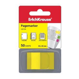 Блок липкий Закладки-разделители EK 25*43 флажки неон желтый