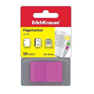Блок липкий Закладки-разделители  EK 25*43 флажки неон розовый