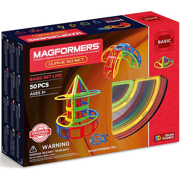 АКЦИЯ-20 Игр Конструктор магнитный Магформерс Curve 50 set