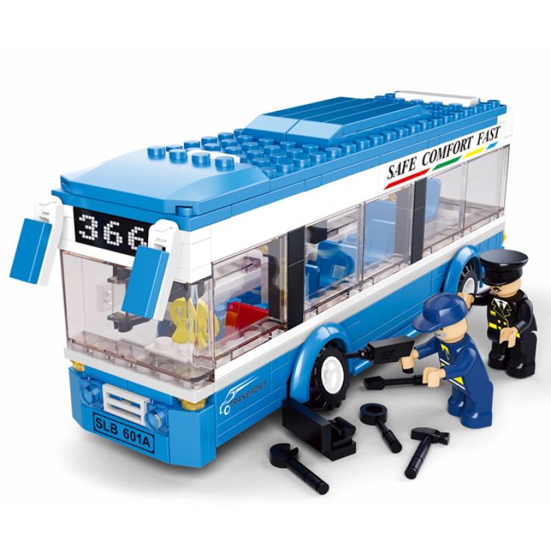 Конструктор Город: Утренний рейс (автобус, фигурки) 235 дет.