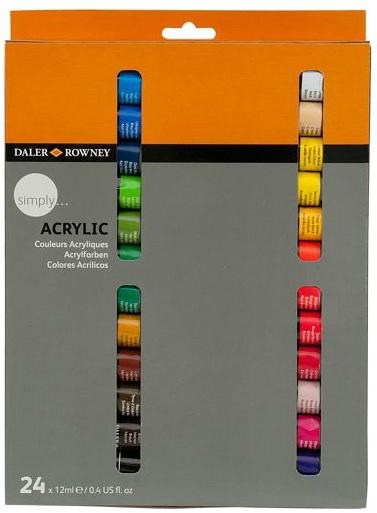 Набор Акриловые краски 24цв Simply 12мл