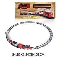 """Железная дорога Ретро """"Экспресс"""", свет, звук, дым, паровоз, 2 вагона,"""