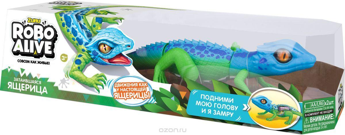 Робо-ящерица RoboAlive (син -зел), на батар.