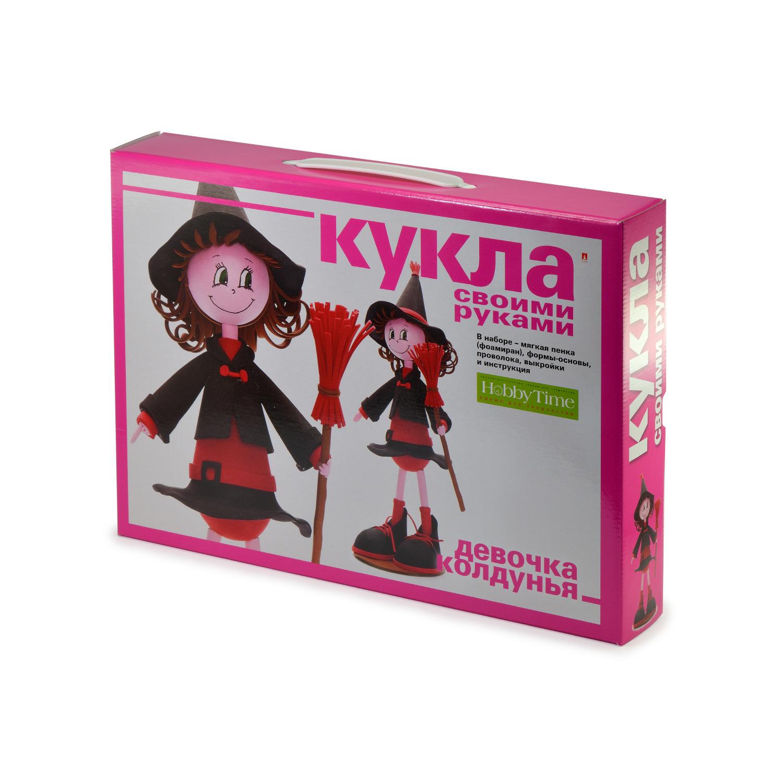 Творч Кукла своими руками фоамиран Девочка-ведьмочка (колдунья)