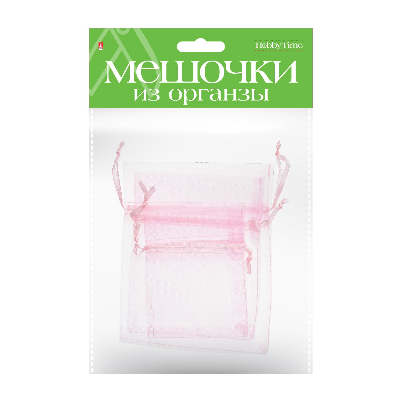 Мешочки подарочные из органзы 3 шт 3 р-ра