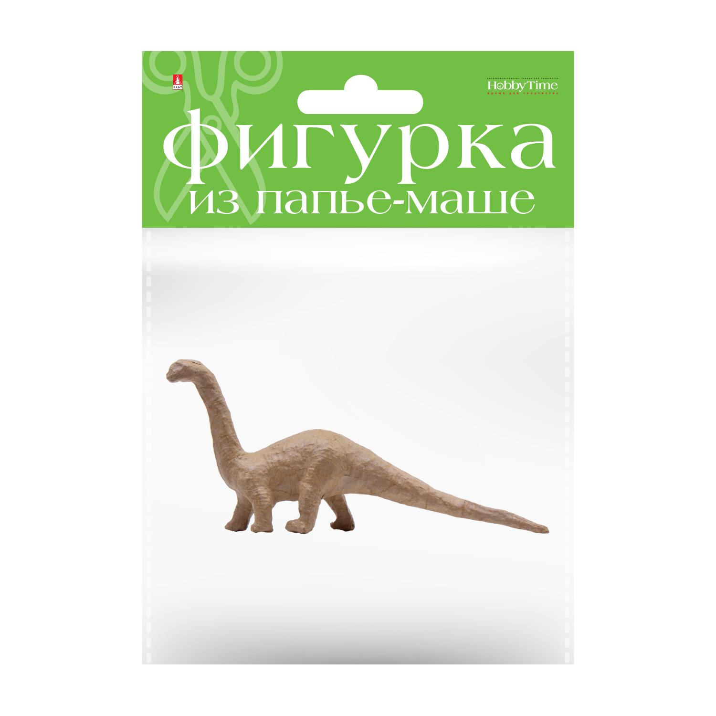 Творч Заготовка папье-маше Динозавр Брахиозавр 1шт 4,5x20,5x10см
