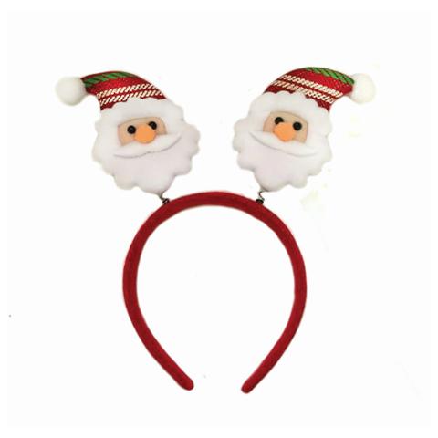 НГ Карнавальный ободок Дед Мороз красно-белый