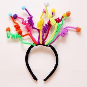 НГ Карнавальный ободок разноцветные полосочки