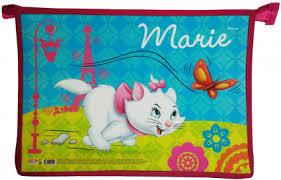 Папка для тетрадей А4 Disney. Кошечка Мари-56 на молнии 1 отд