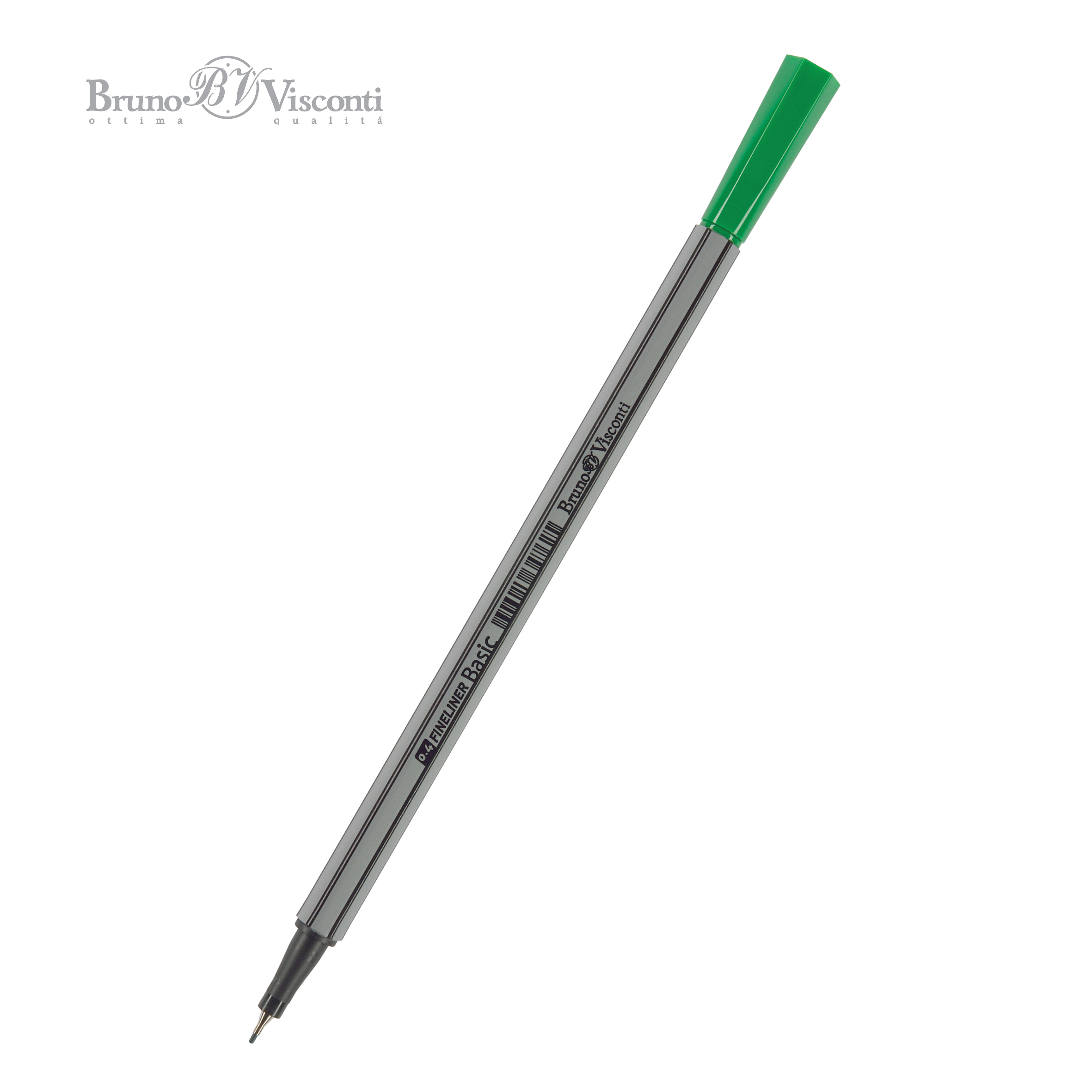 Ручка капиллярная Bruno Visconti Basic зеленая 0.4