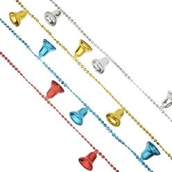 НГ Гирлянда Бусы 200см с колокольчиками  4 цвета