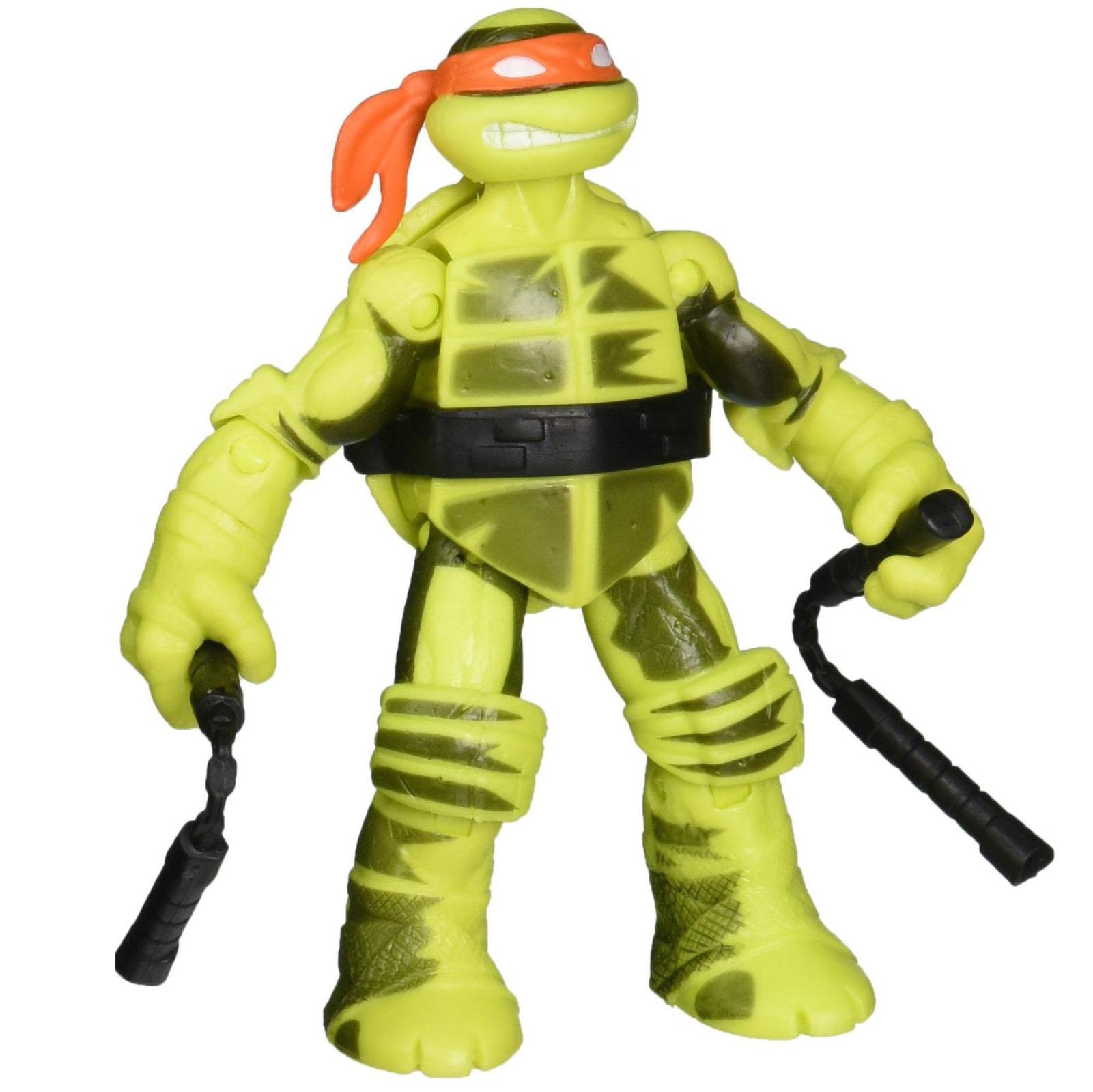 АКЦИЯ-20 Игр Фигурка Черепашка Ниндзя Shadow ninja color change Mikey