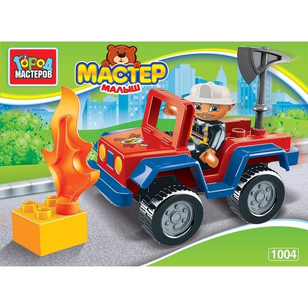 Конструктор Большие кубики: Пожарная машина, с фигуркой