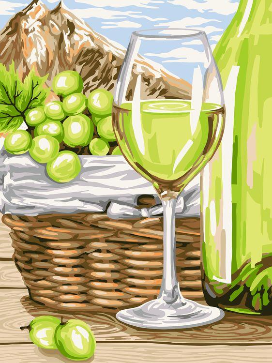 Творч Рисование по номерам 30Х40 Белое вино