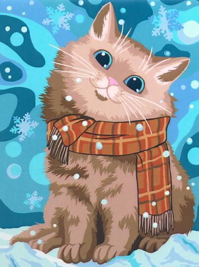 Творч Рисование по номерам 30Х40 Теплый снегопад