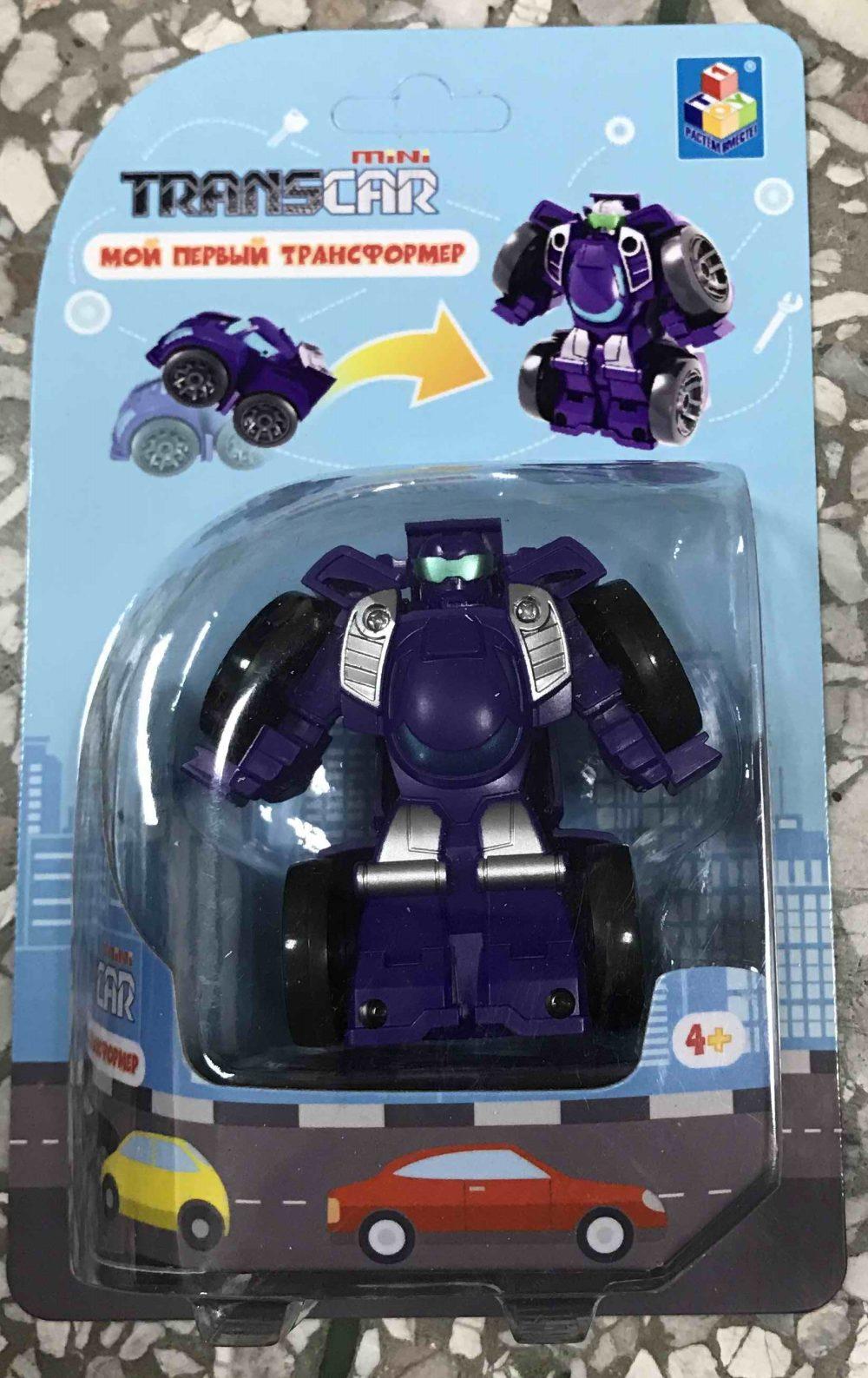 Трансформер Мой первый трансформер 6см (собир в суперкар) фиолет плас
