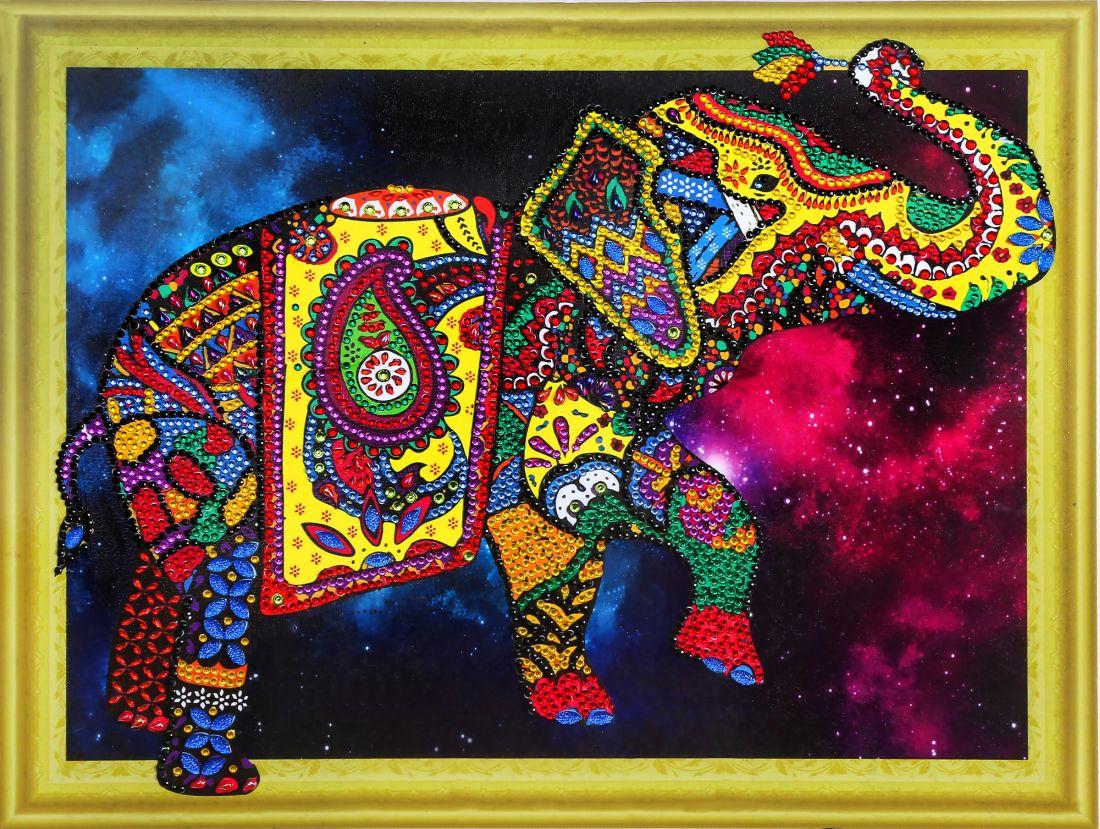 Творч Алмазная картина 30*40 Созвездие слона с фигурными стразами