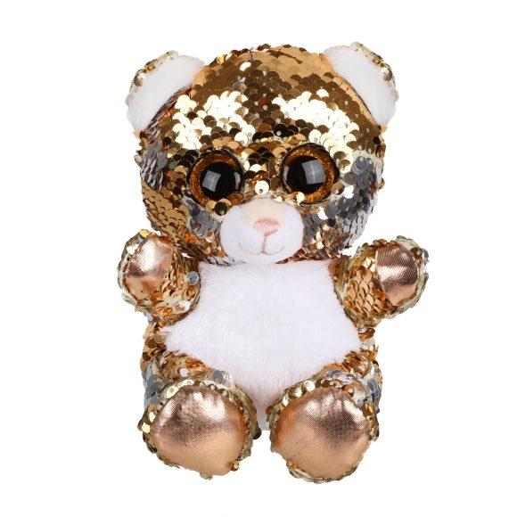 Мягконабивная Мишка 15см с пайетками