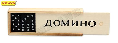 Игра Домино 14х5см в дерев коробке